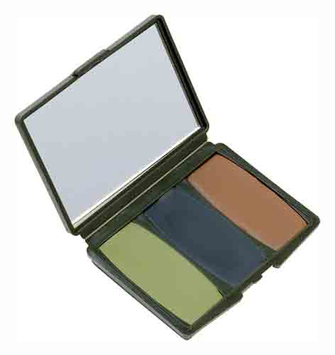HS FACE PAINT CAMO COMPACS WOODLAND-BROWN,GREEN,BLACK - for sale
