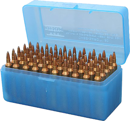 mtm case-gard - Case-Gard - AMMO BOX - 50 RD FLIP TOP 375 REM BLU for sale