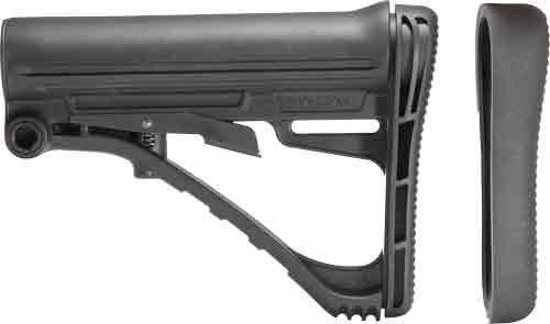 TACSTAR COLLAPSABLE STOCK AR15 FOR MIL-SPEC TUBE BLACK POLY - for sale