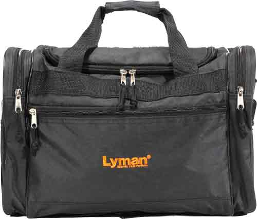 LYMAN HANDGUN RANGE BAG BLACK NYLON W/CARRY STRAP - for sale
