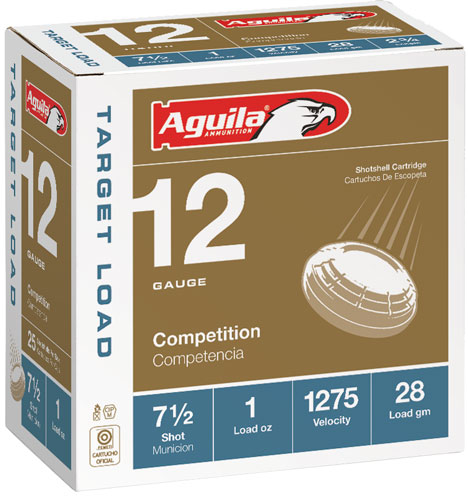 "AGUILA FIELD LOAD SHOTSHELL AMO 12GA #7.5 2-3/4"" 1 OZ 25RD 1275FPS  (10 BOXES PER CASE) - for sale"
