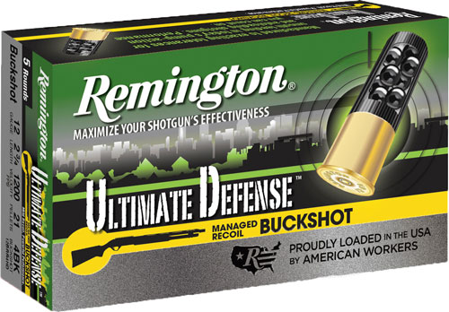 "REM AMMO ULTIMATE HOME DEFENSE 12GA. 2.75"" #4BK 5-PACK - for sale"