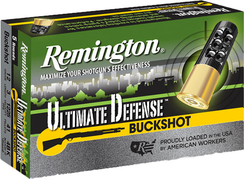 "REM AMMO ULTIMATE HOME DEFENSE 12GA. 3"" #4BK 5-PACK - for sale"