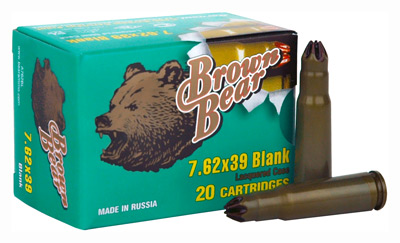 BROWN BEAR BLANK 7.62X39 500-PACK CASE - for sale