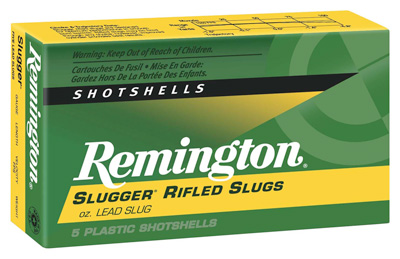 REMINGTON SLUGGER MAGNUM RIFLED SLUGS AMO 12GA 1OZ RS 5RD S12MRS 3IN - for sale
