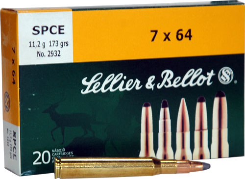 SELLIER & BELLOT RIFLE  AMO 7X64 173GR SPCE 20RD - for sale