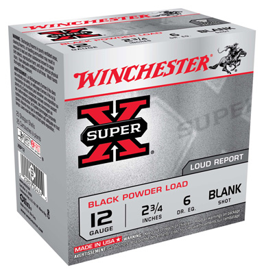 "WIN BLANKS 12GA. 2 3/4"" BLACK POWDER BLANKS 25-PACK - for sale"
