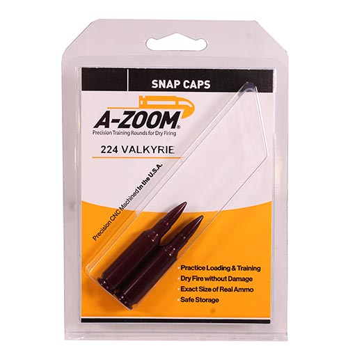 A-ZOOM METAL SNAP CAP .224 VALKYRIE 2-PACK - for sale