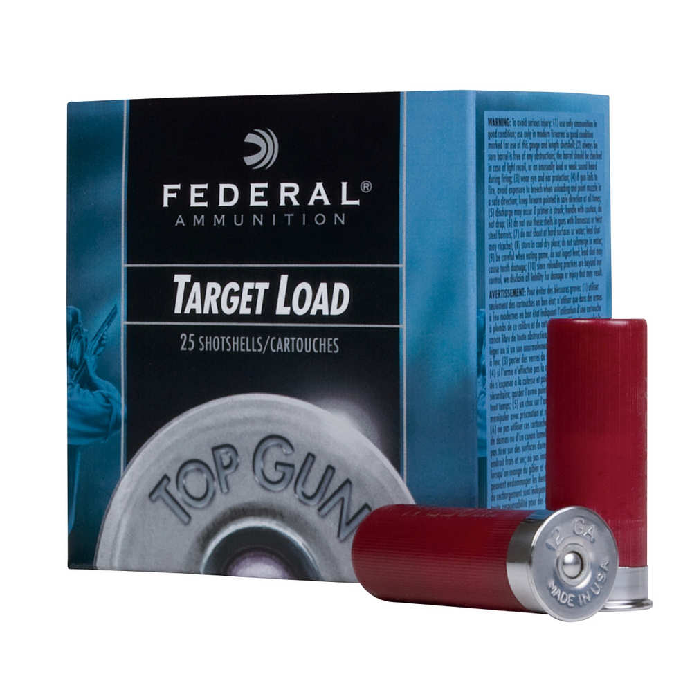 "FEDERAL TOP GUN PROMO AMO 12GA #7.5 2-3/4"" 1-1/8 OZ 25RD BOX (10 BOXES PER CASE) - for sale"