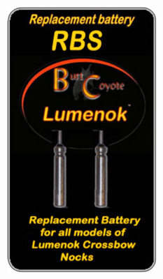 LUMENOK REPLACEMENT BATTERY FOR LIGHTED BOLT NOCK 2PK - for sale
