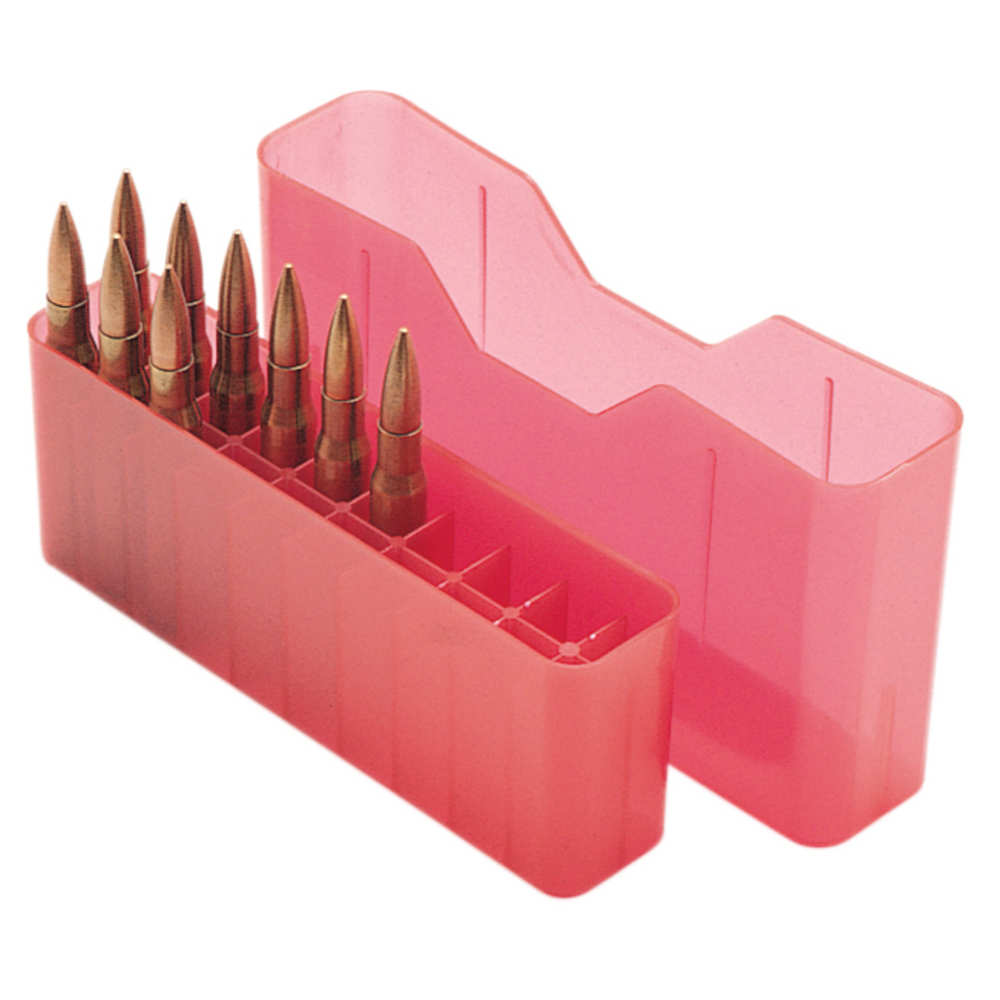 mtm case-gard - J-20 - SLIPTOP MED RIFLE CTG BOX 20RD - CLR RED for sale