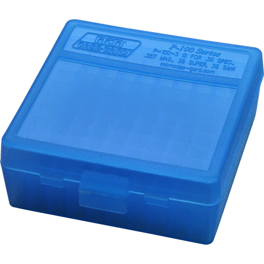 mtm case-gard - Case-Gard - P100 MED HNDGN AMMO BOX 100RD - CLR BLUE for sale