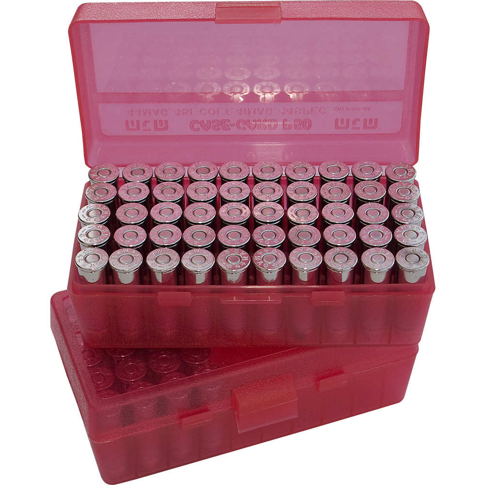 mtm case-gard - Case-Gard - P50 XLG HNDGN AMMO BOX 50RD - CLR RED for sale