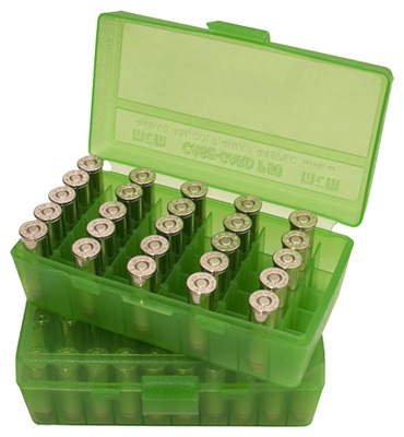 mtm case-gard - Case-Gard - P50 SML HNDGN AMMO BOX 50RD - GREEN for sale