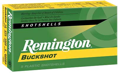 REMINGTON MAGNUM BUCKSHOT AMO 12GA 000BUCK 8 PEL 5RD 2 3/4 IN 1325 FPS 20406 - for sale
