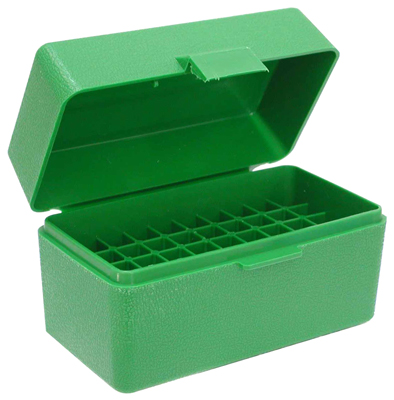 mtm case-gard - RS5010 - 50 SER XSML RIFLE AMMO BOX 50RD - GREEN for sale