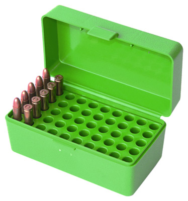 MTM AMMO BOX WSSM & .500SW 50-ROUNDS FLIP TOP STYLE GREEN - for sale